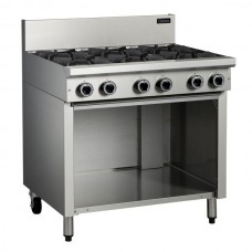 6 BURNER GAS COOKTOP WITH CABINET BASE