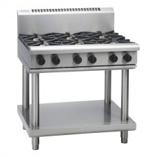 6 BURNER GAS COOKTOP WITH LEG STAND