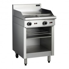 600mm GAS GRIDDLE TOASTER WITH CABINET BASE